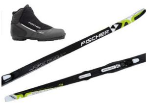 Langlauf Ski Cruising Set Fischer Orbiter Crown